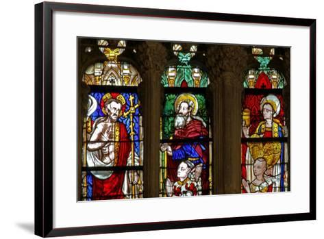 Window W137 Depicting St Mary Magdalene, Christ and St Anthony--Framed Art Print