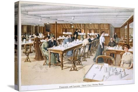 Franconia and Laconia: Third Class Dining Room--Stretched Canvas Print