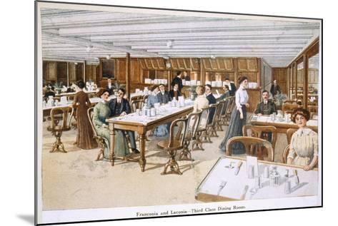 Franconia and Laconia: Third Class Dining Room--Mounted Giclee Print