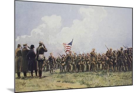 Review of United States Troops in France, March, 1918--Mounted Giclee Print