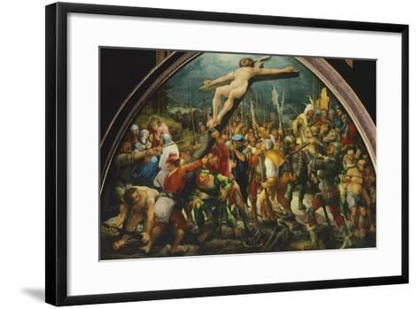 Crucifixion, by Wolfgang Huber--Framed Art Print