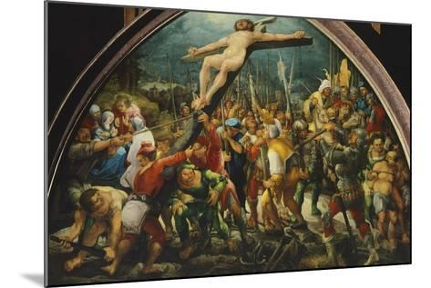 Crucifixion, by Wolfgang Huber--Mounted Giclee Print