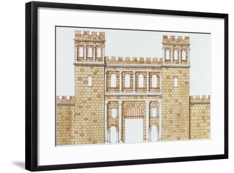 Exterior Facade of Roman North Gate 'Nordtor' in Cologne--Framed Art Print