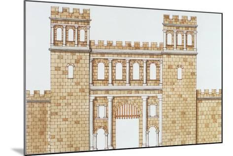 Exterior Facade of Roman North Gate 'Nordtor' in Cologne--Mounted Giclee Print
