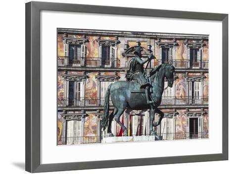 Equestrian Statue of Philip III--Framed Art Print