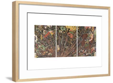 Masakiyo's Difficult Battle from the Taiheiki Chronicles, 1866--Framed Art Print