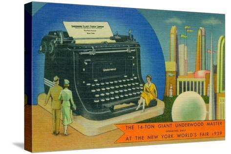 The Giant Underwood Master Typewriter and the New York World's Fair, 1939--Stretched Canvas Print