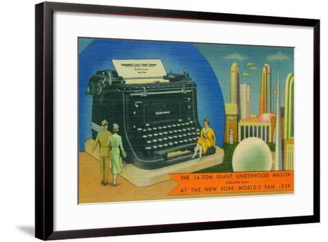 The Giant Underwood Master Typewriter and the New York World's Fair, 1939--Framed Art Print
