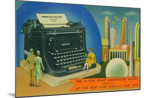 The Giant Underwood Master Typewriter and the New York World's Fair, 1939--Mounted Giclee Print