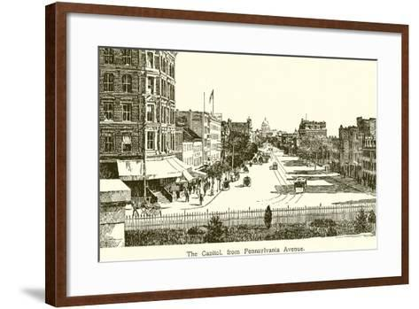 The Capitol, from Pennsylvania Avenue--Framed Art Print