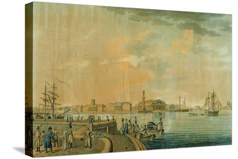 The Bourse and the Rostral Columns, Saint Petersburg, 1807--Stretched Canvas Print