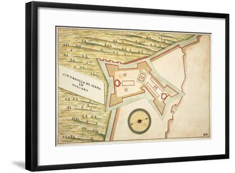 Map of Siena and its Defensive Structures--Framed Art Print