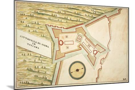 Map of Siena and its Defensive Structures--Mounted Giclee Print