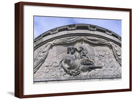 Relief, Decorated Pediment, Chateau De Craon Southern Facade of Castle, Pays De La Loire, France--Framed Art Print