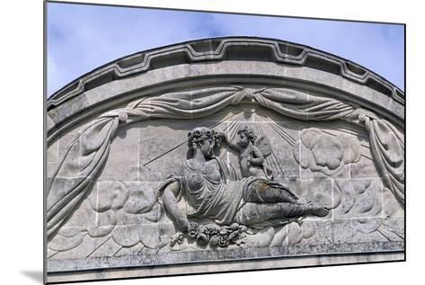 Relief, Decorated Pediment, Chateau De Craon Southern Facade of Castle, Pays De La Loire, France--Mounted Giclee Print