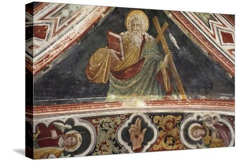 Fresco in Upper Church of Sacro Speco Monastery, Subiaco, Italy, 14th-15th Century--Stretched Canvas Print