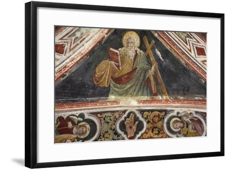 Fresco in Upper Church of Sacro Speco Monastery, Subiaco, Italy, 14th-15th Century--Framed Art Print
