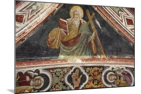 Fresco in Upper Church of Sacro Speco Monastery, Subiaco, Italy, 14th-15th Century--Mounted Giclee Print