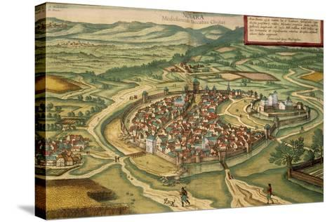 Map of Novara, from Civitates Orbis Terrarum--Stretched Canvas Print