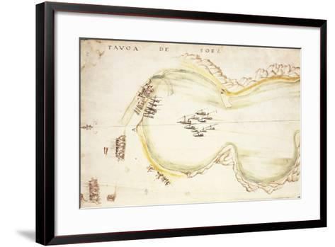 Gulf of Suez, Egypt, from Nautical Charts by Joao De Castro, 1538--Framed Art Print