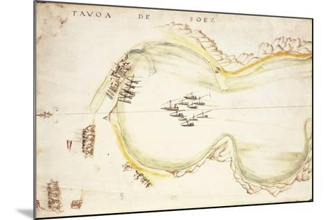 Gulf of Suez, Egypt, from Nautical Charts by Joao De Castro, 1538--Mounted Giclee Print