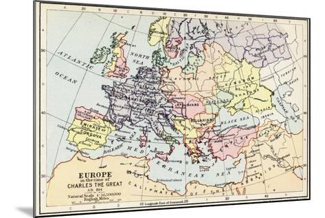 Map of Europe in the Time of Charles the Great--Mounted Giclee Print