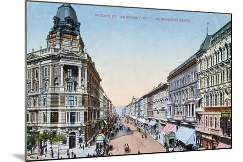 Postcard Depicting the Avenue Andrassy in Budapest, Hungary, 1913--Mounted Giclee Print