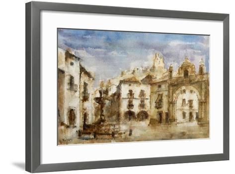Set Design for 'The Barber of Seville'--Framed Art Print