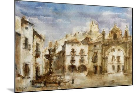 Set Design for 'The Barber of Seville'--Mounted Giclee Print