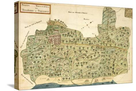 Topographic Map of Area of Partinico, Palermo Province, Sicily Region--Stretched Canvas Print