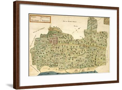 Topographic Map of Area of Partinico, Palermo Province, Sicily Region--Framed Art Print