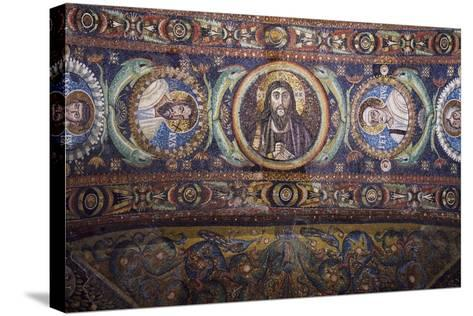 Clipei Connected by Pairs of Dolphins with Images of St James, St Paul, Christ, St Peter, St Andrew--Stretched Canvas Print