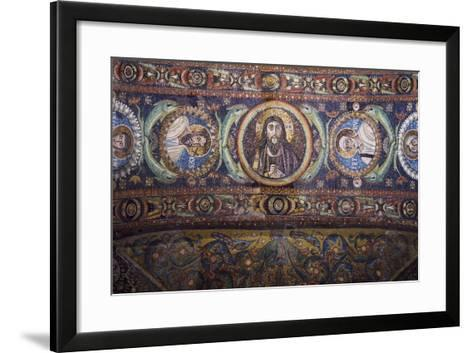 Clipei Connected by Pairs of Dolphins with Images of St James, St Paul, Christ, St Peter, St Andrew--Framed Art Print