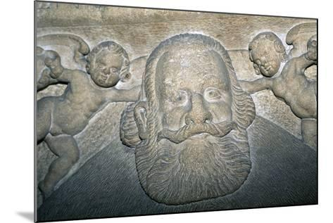 14th-16th Century Tombstone in Saxon Evangelical Church--Mounted Giclee Print