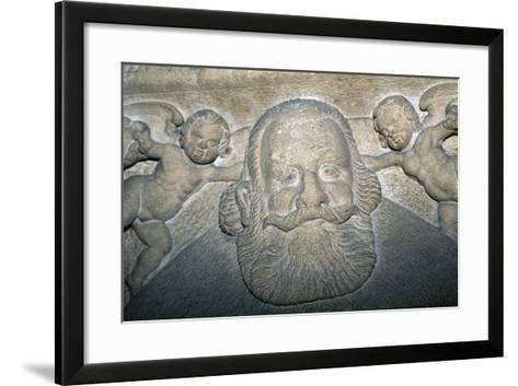 14th-16th Century Tombstone in Saxon Evangelical Church--Framed Art Print