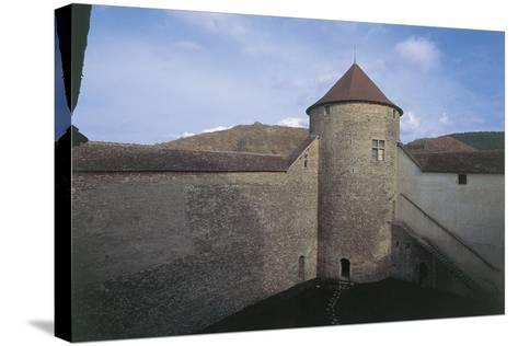 Wall of a Castle, Allymes Castle, Bugey, Rhone-Alpes, France--Stretched Canvas Print