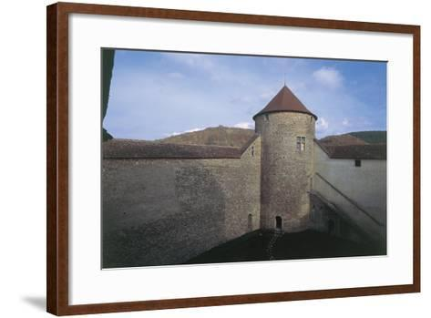 Wall of a Castle, Allymes Castle, Bugey, Rhone-Alpes, France--Framed Art Print