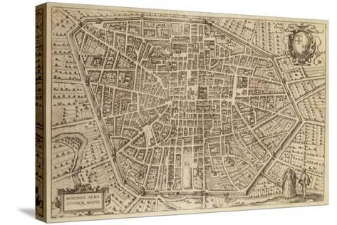 Perspective Plan of Bologna from Bononia Alma Studiorum Mater, 1575--Stretched Canvas Print