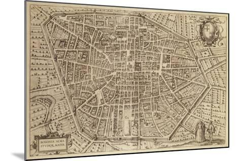 Perspective Plan of Bologna from Bononia Alma Studiorum Mater, 1575--Mounted Giclee Print