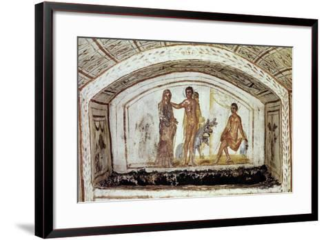 Alcestis in Front of Hercules and Cerberus, Via Latina Catacomb, Rome, Italy--Framed Art Print