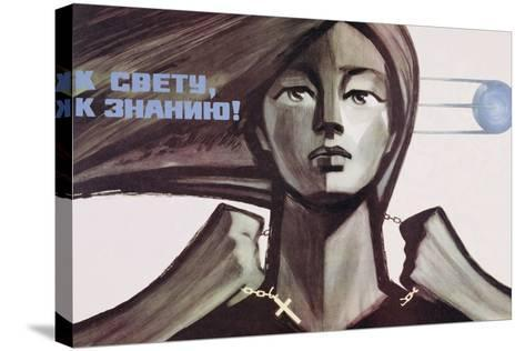 Soviet Propaganda Poster for Science over Religion, 1967--Stretched Canvas Print