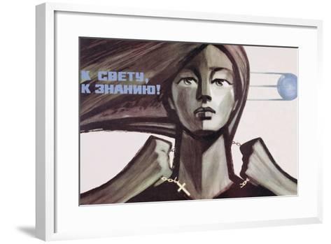 Soviet Propaganda Poster for Science over Religion, 1967--Framed Art Print