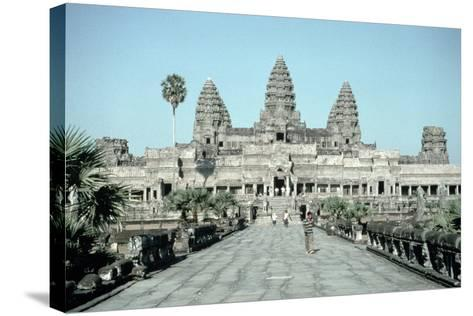 Approach to the East Gate of the Angkor Wat, Completed C.1150--Stretched Canvas Print
