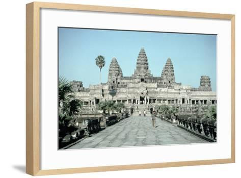Approach to the East Gate of the Angkor Wat, Completed C.1150--Framed Art Print