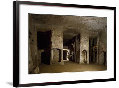 Room Opposite Lower Floor of Catacombs of San Gennaro, Naples, Campania, Italy--Framed Art Print