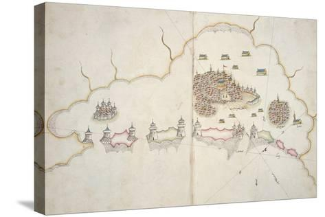 Turkish Portolan Chart by Sejjed Nuh Efendi, Paper, 11th-12th Century--Stretched Canvas Print