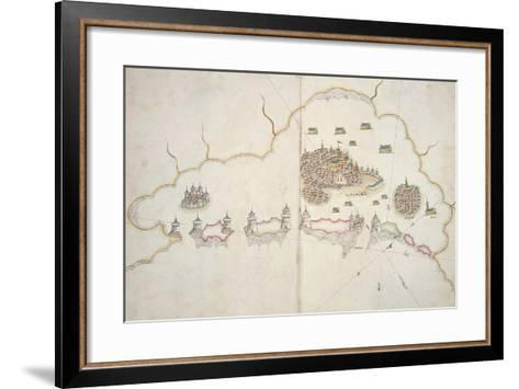 Turkish Portolan Chart by Sejjed Nuh Efendi, Paper, 11th-12th Century--Framed Art Print