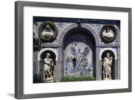 Glazed Tiles and Decorations in the Palace of the Marquesses of Fronteira, Portugal--Framed Art Print