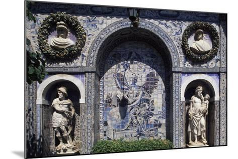 Glazed Tiles and Decorations in the Palace of the Marquesses of Fronteira, Portugal--Mounted Giclee Print