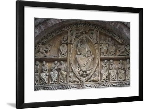 France, Midi-Pyrenees Region, Lot Departament, Carennac, Church of Saint Peter, Relief Detail--Framed Art Print